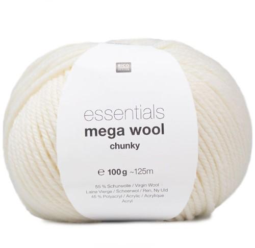 Rico Essentials Mega Wool Chunky 001 Créme