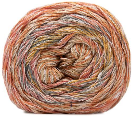 Lana Grossa Gomitolo Summer Tweed 015 Petrol / Yellow / Apricot / Blue Gray / Orange / Gray