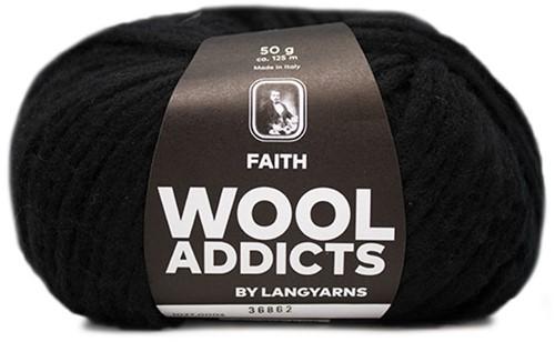 Lang Yarns Wooladdicts Faith 004 Black