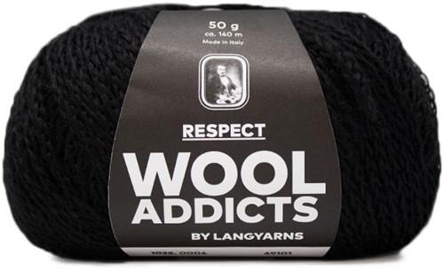 Lang Yarns Wooladdicts Respect 004 Black