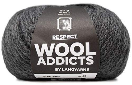 Lang Yarns Wooladdicts Respect 005 Grey Mélange