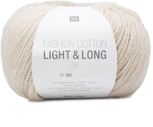Rico Fashion Cotton Light & Long DK 01 Natur