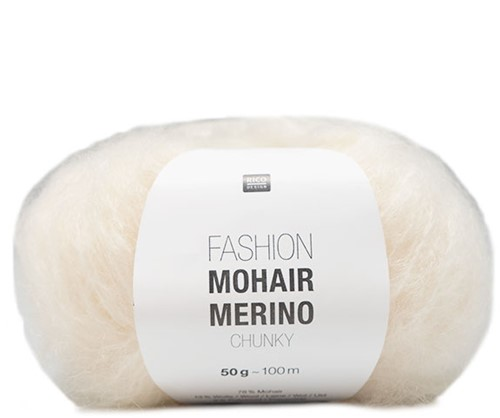Rico Fashion Mohair Merino Chunky 001 Cream