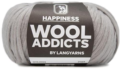 Wooladdicts Solid Stone Vest Breipakket 4 S Grey