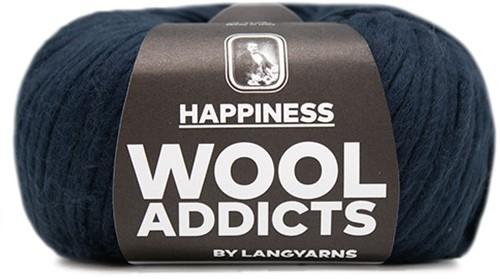 Wooladdicts Solid Stone Vest Breipakket 6 L Marine