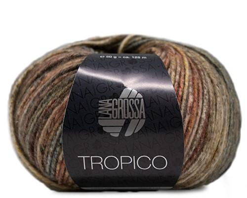 Lana Grossa Tropico 003 Olive / Brown / White / Grey-Green / Taupe / Salmon
