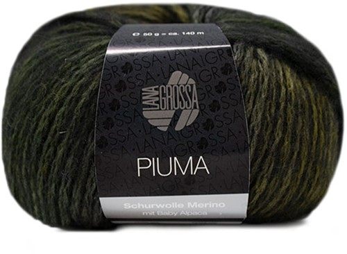 Lana Grossa Piuma 003 Olive / Grey-Green / Black