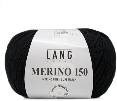 Lang Yarns Merino 150 004 Black