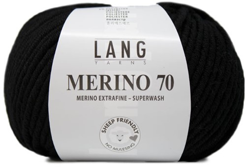 Lang Yarns Merino 70 004 Black