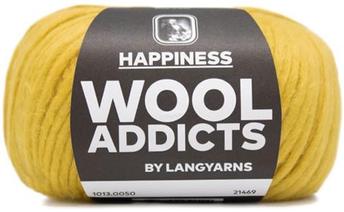 Wooladdicts Solid Stone Vest Breipakket 8 M Gold