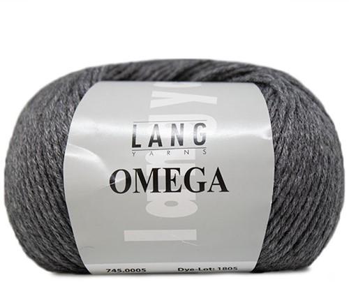 Lang Yarns Omega 005 Grey Mélange