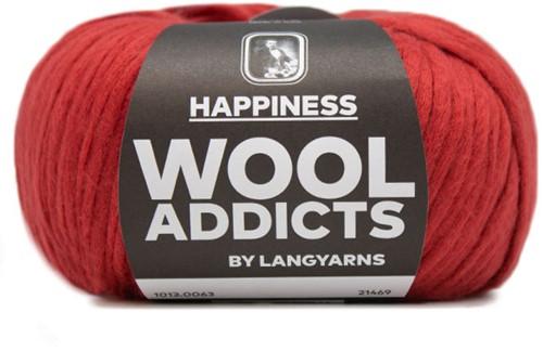 Wooladdicts Solid Stone Vest Breipakket 9 L Dark Red