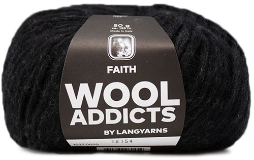 Lang Yarns Wooladdicts Faith 070 Anthracite