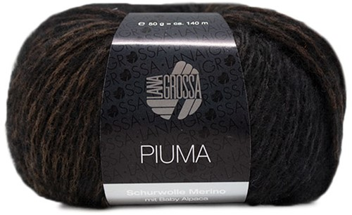 Lana Grossa Piuma 007 Grey-Blue / Dark Grey / Black
