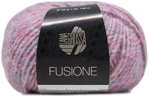 Lana Grossa Fusione 007 Bright Pink / Light Blue Mixed