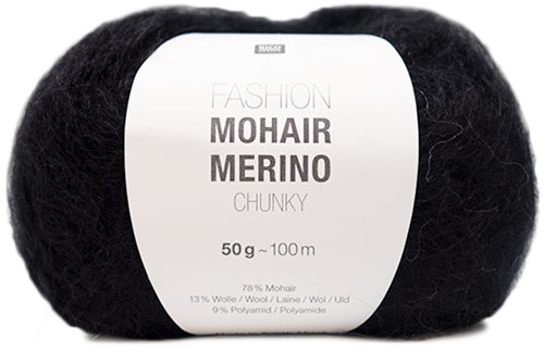 Rico Fashion Mohair Merino Chunky 008 Black