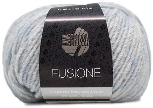 Lana Grossa Fusione 008 Light Blue / Raw White Mixed