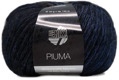 Lana Grossa Piuma 009 Jeans / Marine / Grey / Black