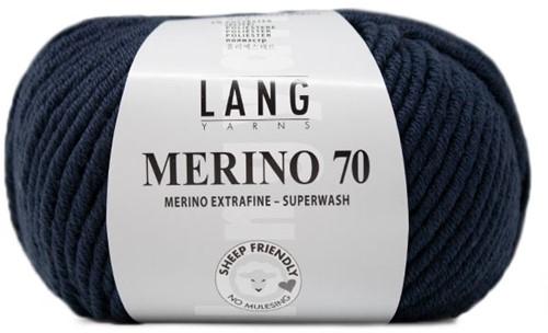 Lang Yarns Merino 70 010 Steel Blue