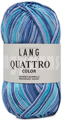 Lang Yarns Quattro Color 010 Blue/turquoise