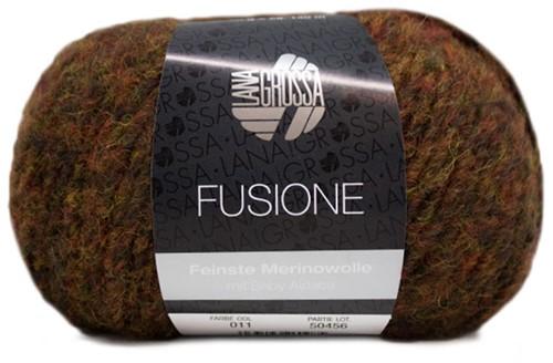 Lana Grossa Fusione 011 Yellow-Orange / Anthracite Mixed
