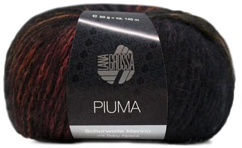 Lana Grossa Piuma 011 Olive / Rosewood / Dark Grey / Black