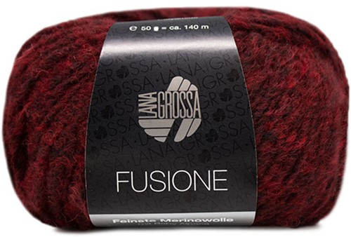 Lana Grossa Fusione 012 Dark Red / Anthracite Mixed