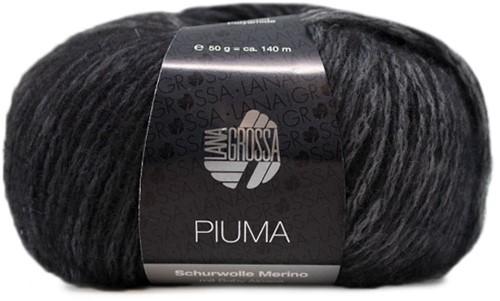 Lana Grossa Piuma 012 Medium-Dark Grey / Black