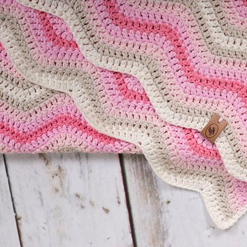 Durable Baby Ripple Blanket Haakpakket 1 Pink
