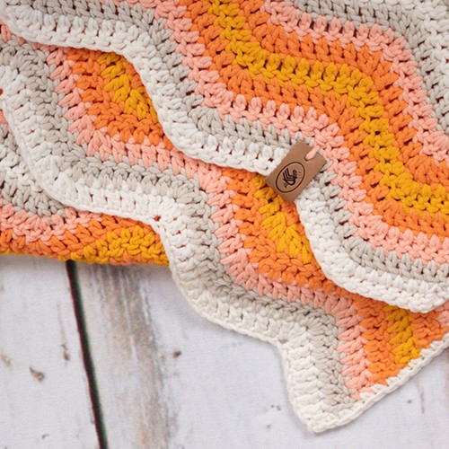 Durable Baby Ripple Blanket Haakpakket 4 Yellow