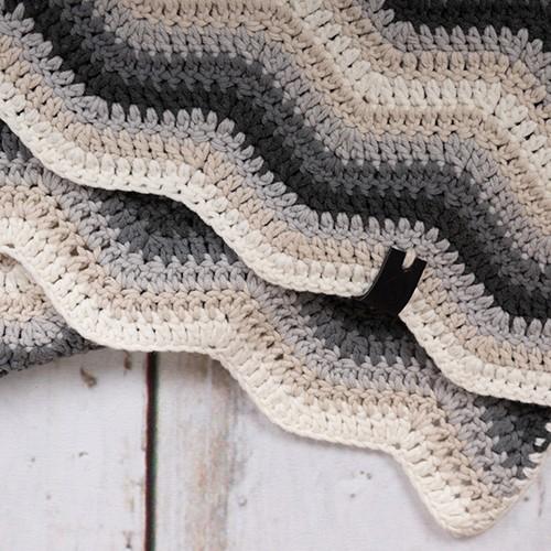 Durable Baby Ripple Blanket Haakpakket 5 Grey