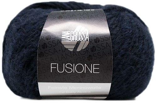 Lana Grossa Fusione 014 Marine / Black Mixed