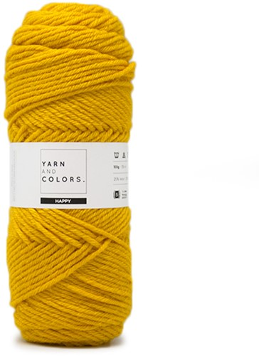 Yarn and Colors Maxi Cardigan Haakpakket 3 S/M Mustard