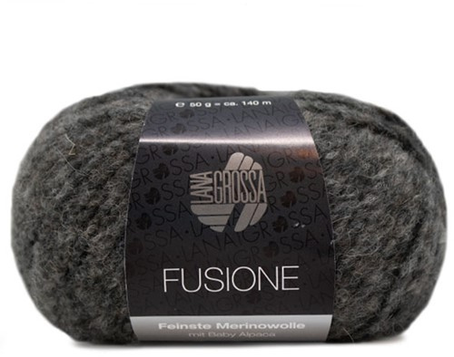 Lana Grossa Fusione 018 Grey / Anthracite Mixed
