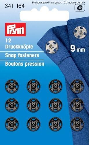 Prym Drukkers Zwart 9mm