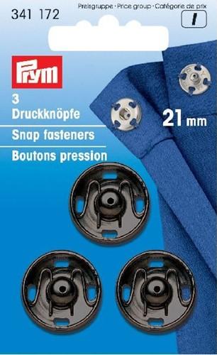 Prym Drukkers Zwart 21mm