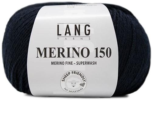 Lang Yarns Merino 150 025 Navy