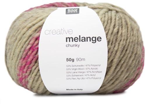 Rico Creative Melange Chunky 031 Rose-Green