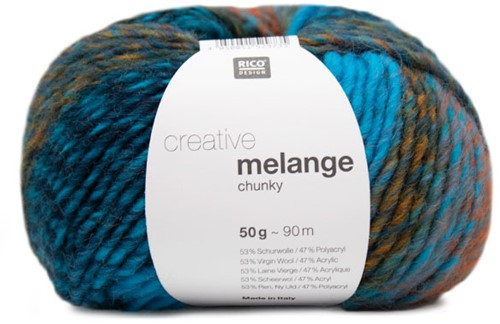 Rico Creative Melange Chunky 034 Turquoise-Cinnamon