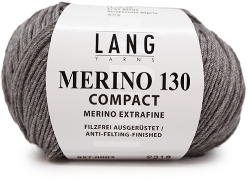 Lang Yarns Merino 130 Compact 03 Light Blue Melange