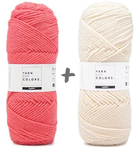 Droomdeken 4.0 CAL Haakpakket 7 Pink Sand & Cream