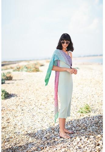 Breipatroon Creative Cotton Dégradé Lucky 8 Sjaal
