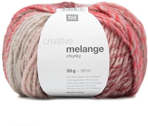 Rico Creative Melange Chunky 056 Pink-Red