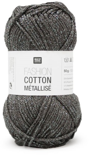 Rico Fashion Cotton Métallisé 5 Steel grey