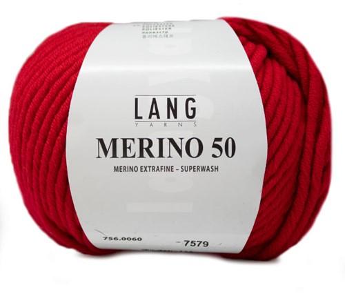 Lang Yarns Merino 50 060 Geranium
