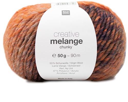 Rico Creative Melange Chunky 062 Orange-Blue