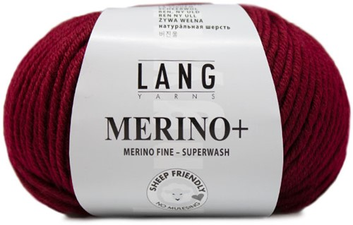 Lang Yarns Merino+ 063 Dark Red