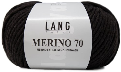 Lang Yarns Merino 70 068 Dark Brown