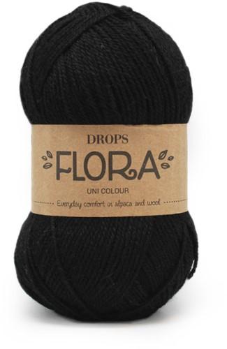 Drops Flora Uni Colour 06 Black