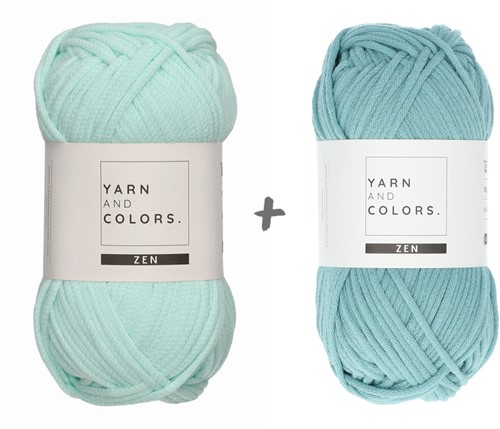 Yarn and Colors Slouchy Pouch Color Block Haakpakket 073 Jade Gravel